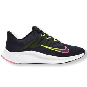 Nike Quest 3 Running Shoes Athletic Sneakers Black Blue Pink Women's Size 8